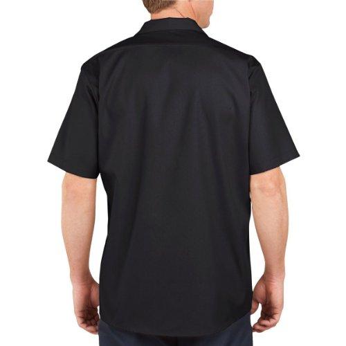 Dickies LS535BK Men's Short Sleeve Industrial Work Shirt, Black