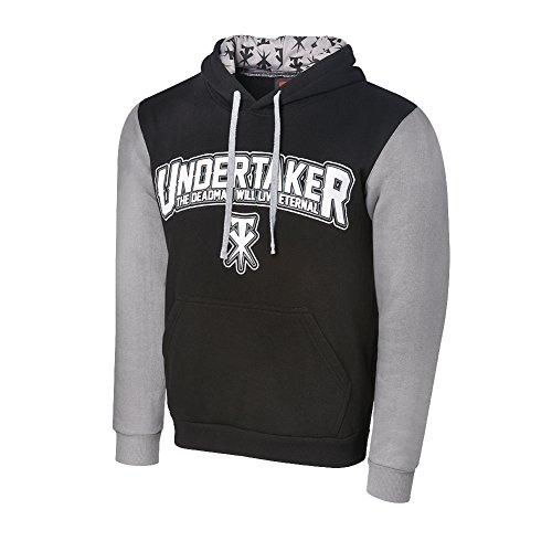 WWE Undertaker The Deadman Lives Eternal Varsity Hoodie Black/Purple Large by WWE Authentic Wear