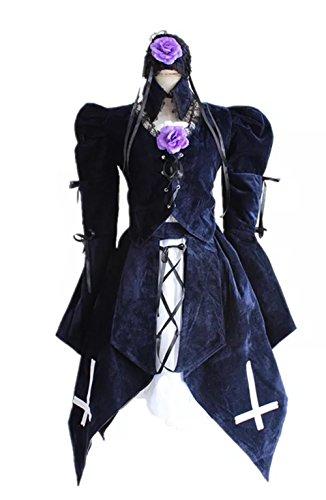 [Kacm Rozen Maiden Suigintou Lolita Princess Skirt Costume] (Rozen Maiden Suigintou Costume)