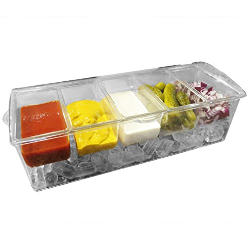 Evelots Condiment Compartments Removable Containers product image
