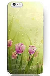 Winona ? Accessories New Charm Design Hard Skin Cover Shell Cute Tulip In Green World Floral Case For iPhone 4 4s