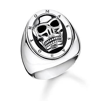 THOMAS SABO Unisex Ring Totenkopf 925er Sterlingsilber