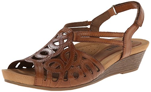 (Rockport Cobb Hill Women's Helen CH Wedge Sandal,Tan,9 M US)