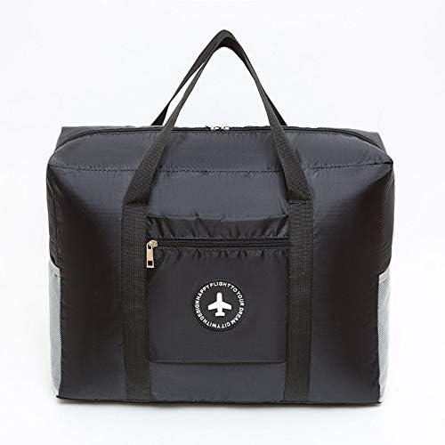 トラべラブ圧縮バッグ 旅行の軽量の防水折り畳み式の携帯用貯蔵の荷物袋 トラベルポーチ 出張 旅行 便利グッズ (Color : Black, Size : Free size)