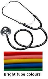 Amarillo tubo frontal doble médicos y Enfermeras estetoscopio clínicos