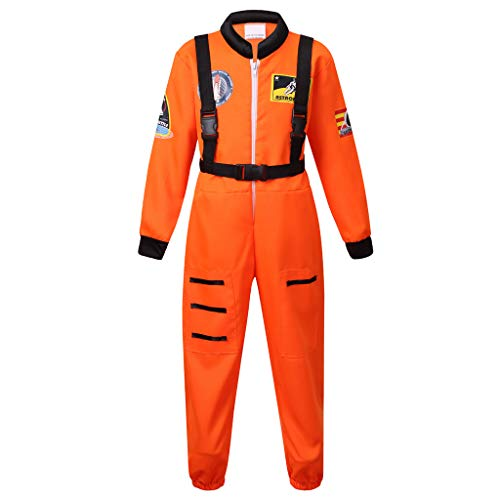 Meeyou Little kids' Space Astronaut Costume(L,Orange)]()