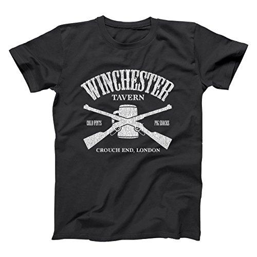 Winchester Tavern Shaun of The Dead Pub Zombie Mens Shirt X-Large Black