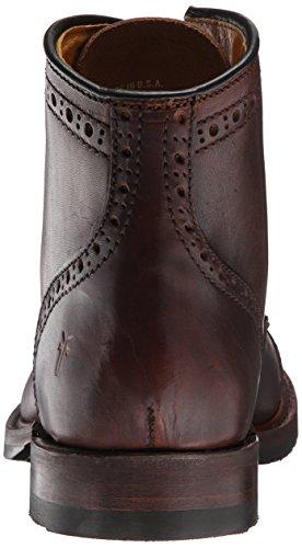 Bota de punta de casquillo Logan Brogue para hombre, Cognac Vintage Pull Up, 7 M US