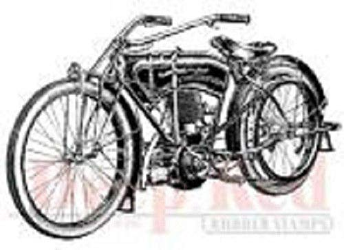 ShopForAllYou Stamping & Embossing Rubber Cling Stamp Early Vintage Motorcycle Bike Chopper