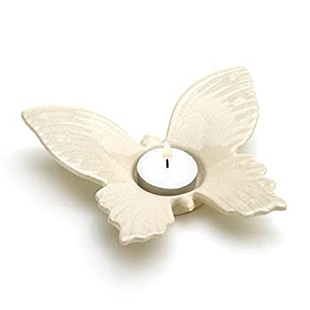 Home Locomotion White Butterfly Tealight Holder