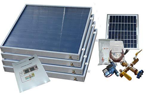 Complete 4 Panel Hybrid Solar Water Heater Kit