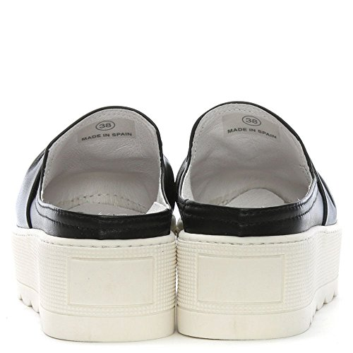 Annodati Nero Skyler Backless In Black Leather Daniel Pelle Muli Flatform wZq5PIId