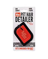 Gentle on fabrics but tough on fur, The Mini Pet Hair Detailer removes trapped or embedded pet hair from car interiors and home upholstery. Easy to hold, safe for any surface, and shaped to fit the curves and crevices of your couch or car, th...