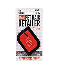 Gentle on fabrics but tough on fur, The Mini Pet Hair Detailer removes trapped or embedded pet hair from car interiors and home upholstery. Easy to hold, safe for any surface, and shaped to fit the curves and crevices of your couch or car, this will ...