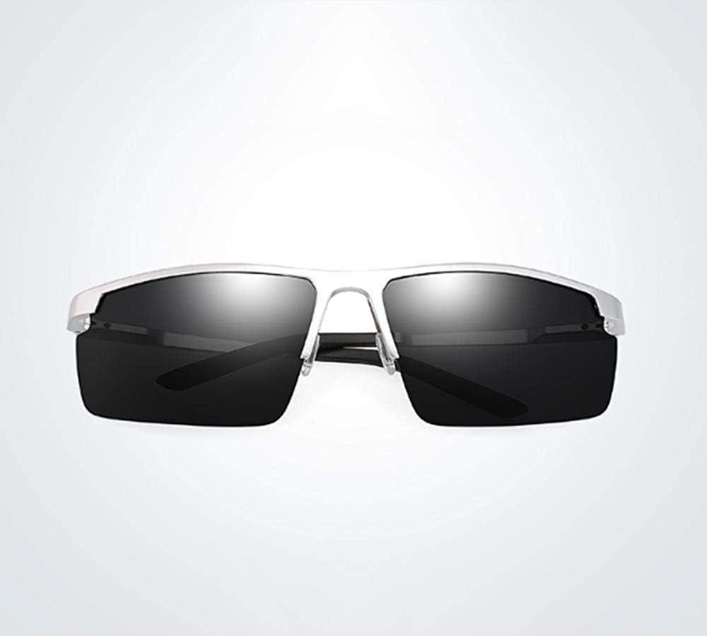 Lunettes de Soleil Rectangle polarisées Blackmetal Frame Goggle Male Female N B