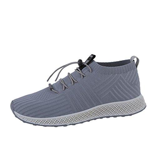 Hunputa Été Hommes Sneakers Beatable Mesh Mâle Chaussures De Sport Formateurs Trail Coureurs Route Chaussures De Course Basket-ball Gris