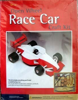 Amazon Com Open Wheel Race Car Craft Kit By Custom Quest Toys Games