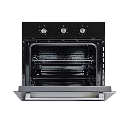 Wall Oven, GASLAND Chef ES606MB 24″ Built-in Single Wall Oven, 6 Cooking Function, Full American Black Glass Electric Wall Oven With Cooling Down Fan, 3 Layer GlassETL Safety Certified Easy To Clean