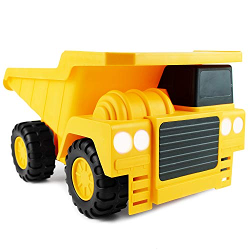 (Boley Large Dump Truck Construction Vehicle - 18-inch Button-Activated Light & Sound Construction Toys, Perfect Truck Toy for Toddler Kids, Boys and Girls)