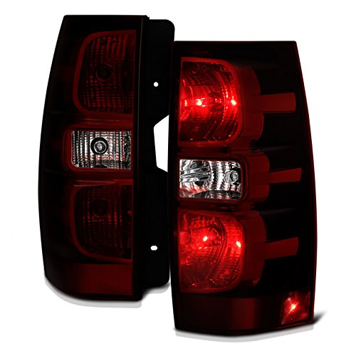 VIPMOTOZ Smoke Red Lens OE-Style Tail Light Lamp Assembly For 2007-2014 Chevy Tahoe Suburban GMC Yukon XL 1500 2500, Driver & Passenger Side
