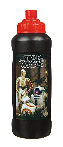 Scooli SWHZ9911 - Sportflasche Star Wars Episode 7, 450 ml, schwarz