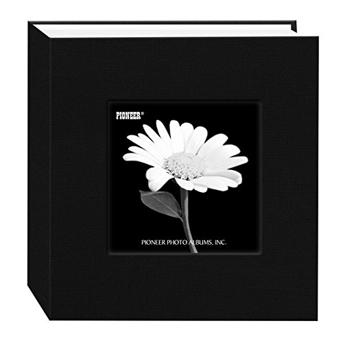 Pioneer 100 Pocket Fabric Frame Cover Photo Album, Deep Black