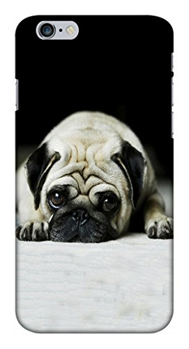 Blutec Pug Puppy Design Printed Polycarbonate Back Cover for Apple iPhone 6 Plus 6S Plus  White
