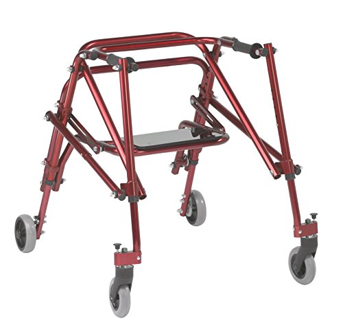 (Inspired by Drive Nimbo 2G Lightweight Posterior Walker with Seat, Castle Red, Medium)