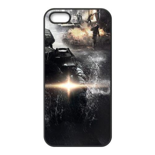 Batmobile coque iPhone 5 5S cellulaire cas coque de téléphone cas téléphone cellulaire noir couvercle EOKXLLNCD22053
