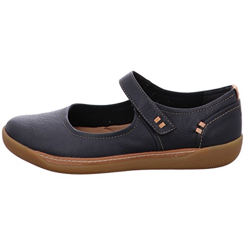 CLARKS Un Haven Womens Mary Jane Shoes Black sZKuv