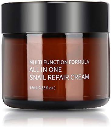 MELAO Crema Hidratante Facial, 92% Extracto de Secreción de Caracol Reduciendo las Arrugas y Líneas Finas Crema Facial Hidratante Antiedad Natural y Orgánica Cuidado de la Piel-75ml