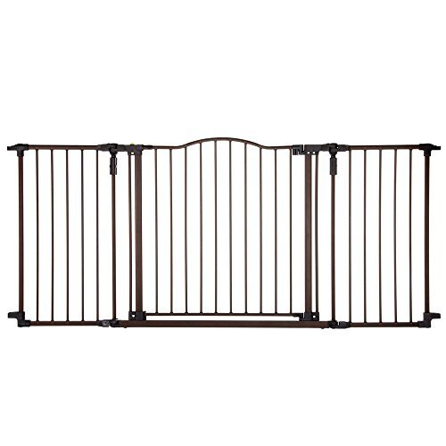 North States Deluxe Décor Wall Mounted Pet Gate Matte Bronze 38.3'' - 72'' x 30'' by North States