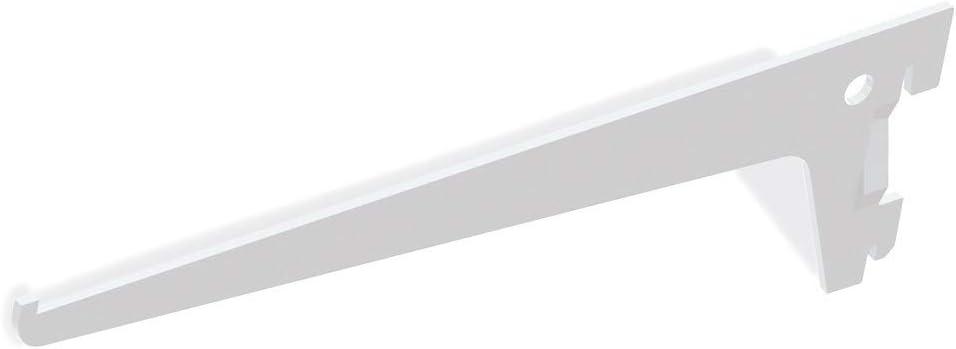 Soporte de estante Jagmet Emuca de largo 250 mm para perfil de ranura simple y paso 50mm: Amazon.es: Bricolaje y herramientas