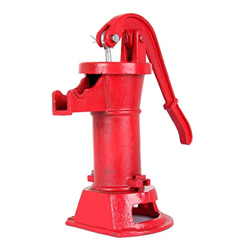 Ridgeyard 1160/PP500NL Pitcher Hand Water Pump #2 Cast Iron Press Suction Outdoor Yard Ponds Garden (Cast Iron Water Pump)