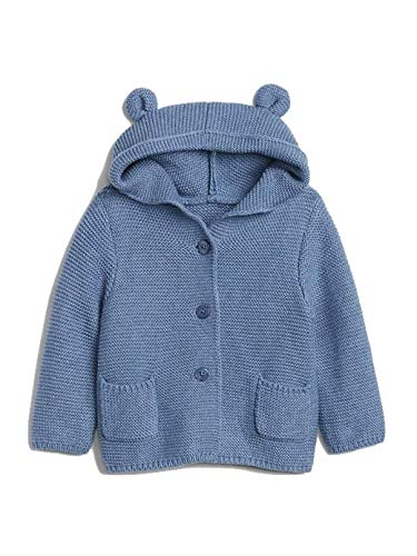 Gap Baby Toddler Boys Bear Hoodie (Indigo, 12-18 M) ()
