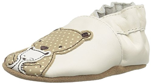 Robeez Girls' Bear Hug Slip-On, Beige, 6-12 Months M US Infant