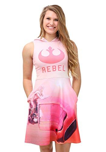 Star Wars Rebel Vehicle Hooded Tank Dress Large Pink]()