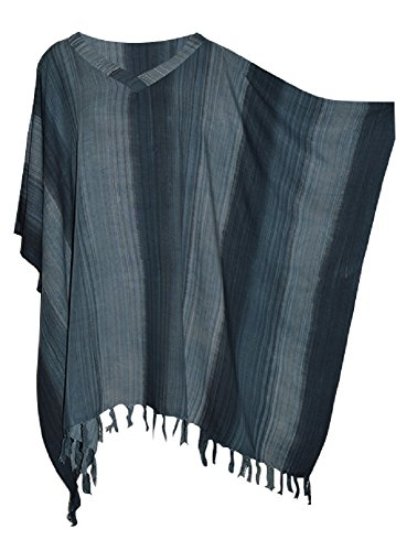 Stripey Ladies Kaftan Top T-shirt Poncho Hand Made Vibrant Large Womens Stripes