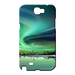 samsung note 2 Proof Bumper High Quality phone case cell phone shells northern lights phone wallpaper