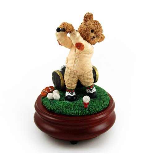 Thread Bears - Over 400 Song Choices - The Perfect Swing with Golfer Threadbear Musical Figurine Frosty the Snowman SWISS