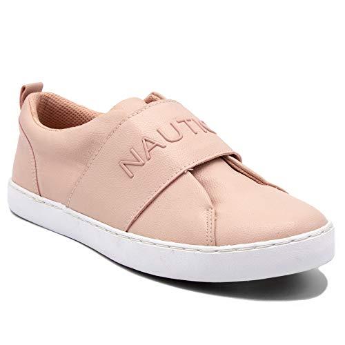 (Nautica Bennet Women Slip - on Fashion Sneaker Casual Shoes-Marigold-Blush-10)