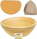 9 Inch Bread Basket Banneton Proofing Basket Bread Proofing Basket Bread Bowl Bread Baking Supplies Banneton Proofing Basket Bread Baking Bread Proofer Bread Baskets Bread Making Bread Making Tools