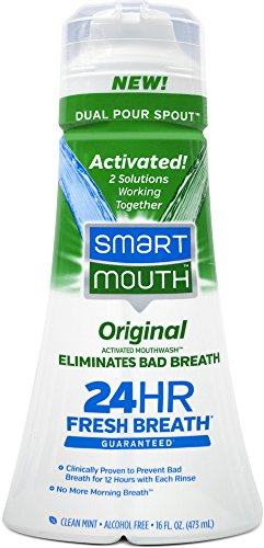 SmartMouth Original Mouthwash, Mint, 16 Fluid Ounce (Pack of 9) by SmartMouth