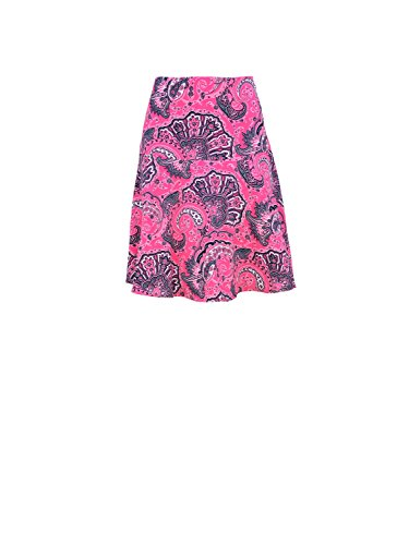 (RALPH LAUREN Women's Paisley Print Skirt(Pink Paisley, Size 14))
