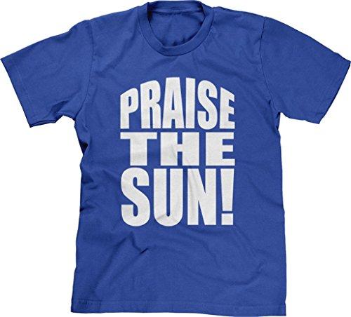 Blittzen Mens Praise The Sun, XL, Royal - Trendy Blog Fashion