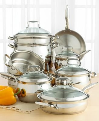 Tools of the Trade Belgique Stainless Steel 14-Piece Cookware Set