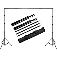 Langxun Adjustable Photo Background Stand Backdrop Support System 10ft x 8.2ft(3M x 2.5M) for Video,Portrai,Product Photography,Party