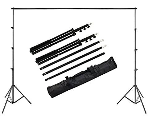 Langxun Adjustable Photo Background Stand Backdrop Support System 10ft x 8.2ft(3M x 2.5M) for Video,Portrai,Product (Stages Lx)