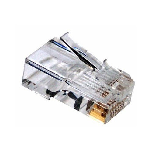 Morris 40123 RJ12 Cat3 Wall Jack Modular Plug, 6 Position, 4 Conductor (Pack of 50) (Position Modular 6 Plug)