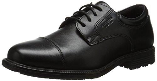 (Rockport Men's Essential Details WP Cap Toe Black 5 M (D))